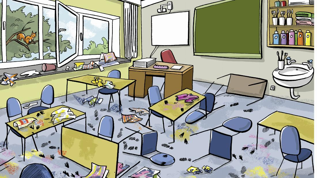 A jumbled classroom (1) (Materialheft S. 26)