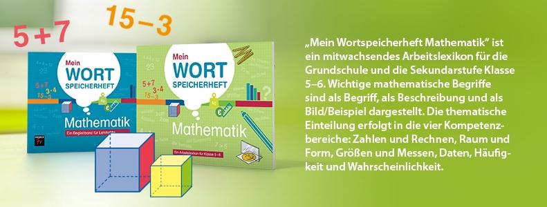 "Arbeitslexikon ""Mein Wortspeicherheft Mathematik"""