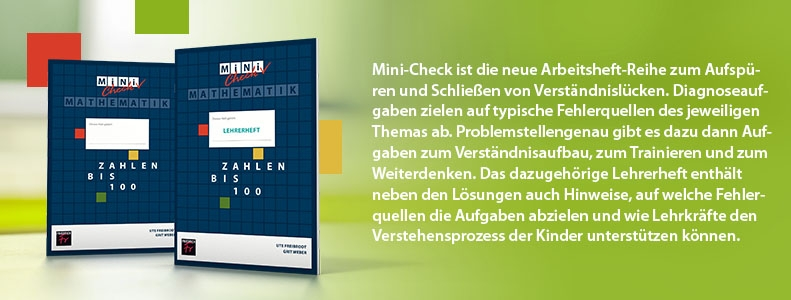 "Arbeitshefte ""Mini-Check Mathematik"""