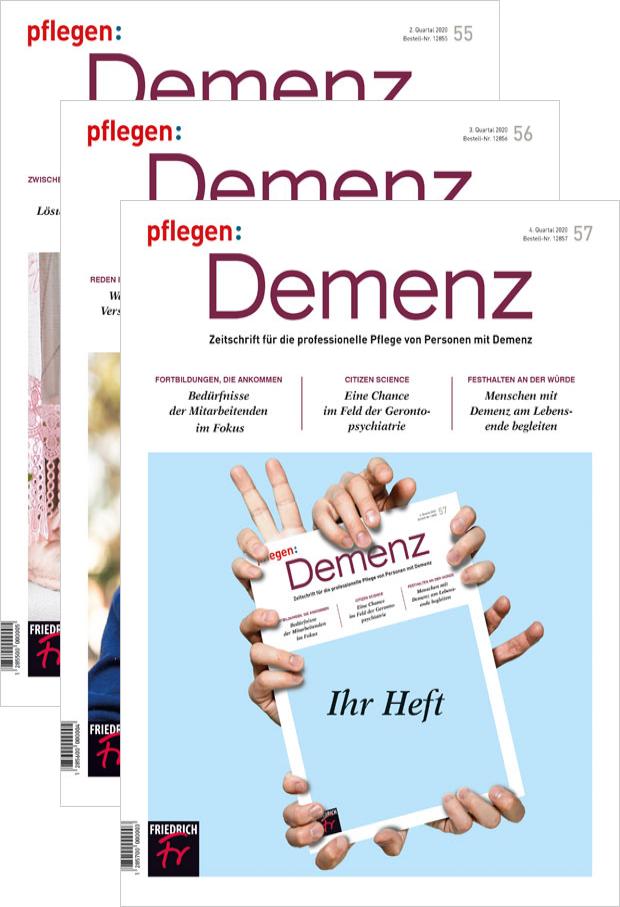 Zur digitalen Ausgabe: pflegen: Demenz