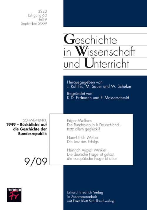 1949 – Rückblicke auf die Geschichte der Bundesrep