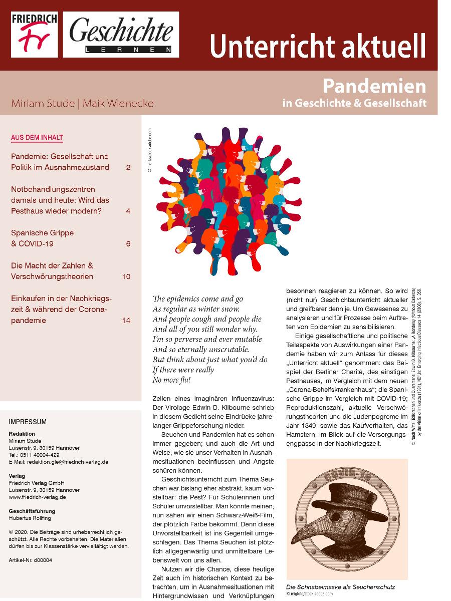 Unterricht aktuell: Pandemien in Geschichte & Gesellschaft