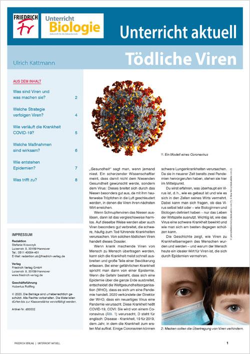 Unterricht aktuell: Tödliche Viren
