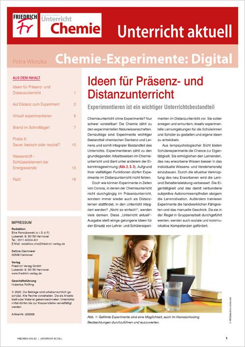 Unterricht aktuell: Chemie-Experimente: Digital